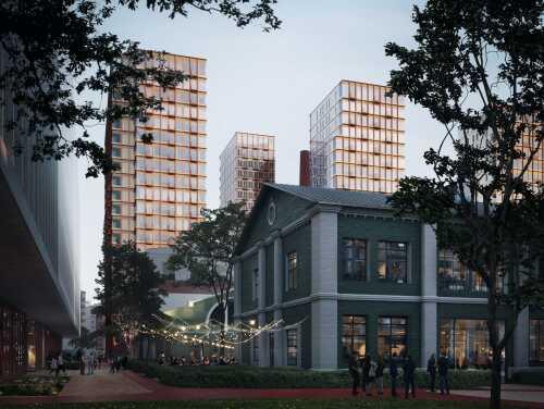 Престижный жилой район на Пресне Рядом четыре парковые зоны
